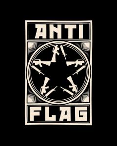 ANTI-FLAG 'New Gunstar Banner' Flagge